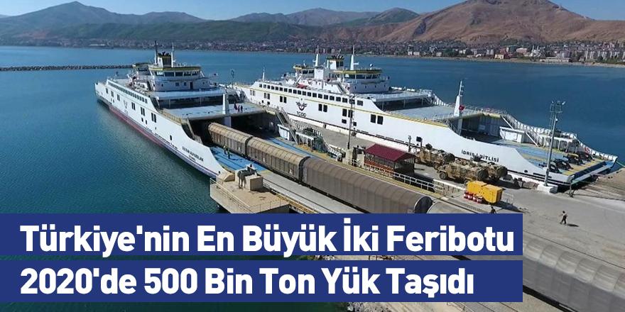 Türkiye'nin En Büyük İki Feribotu 2020'de 500 Bin Ton Yük Taşıdı