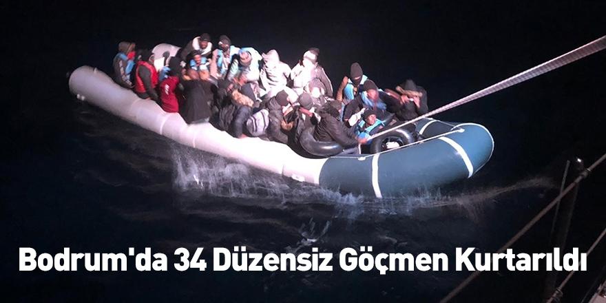 Bodrum'da 34 Düzensiz Göçmen Kurtarıldı