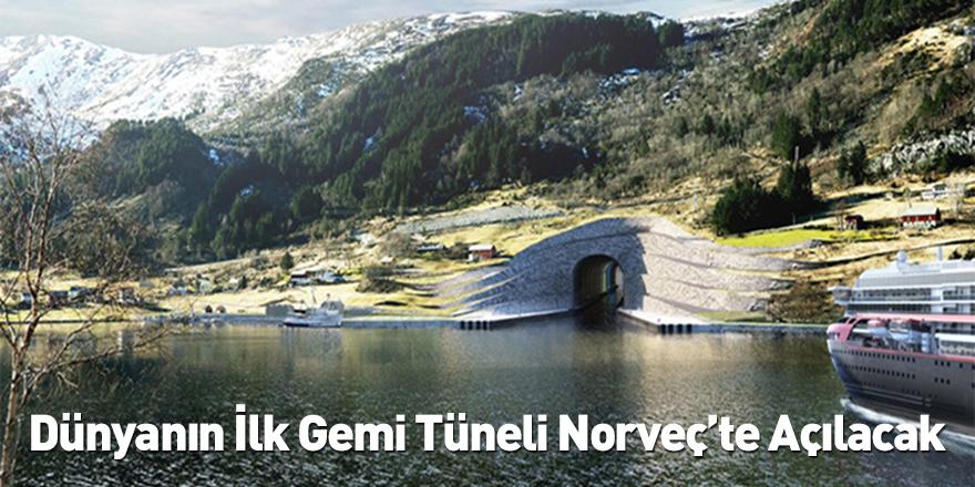 Dünyanın İlk Gemi Tüneli Norveç'te Açılacak