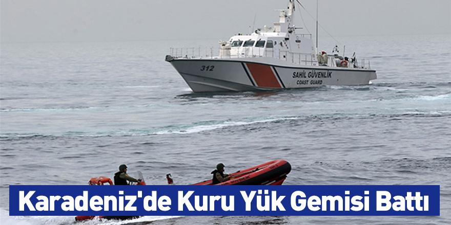 Karadeniz'de Kuru Yük Gemisi Battı