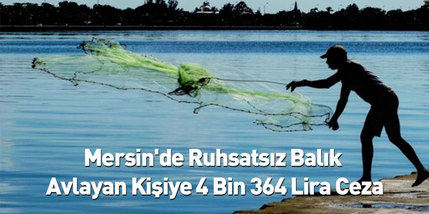 Mersin'de Ruhsatsız Balık Avlayan Kişiye 4 Bin 364 Lira Ceza