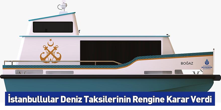 İstanbullular Deniz Taksilerinin Rengine Karar Verdi
