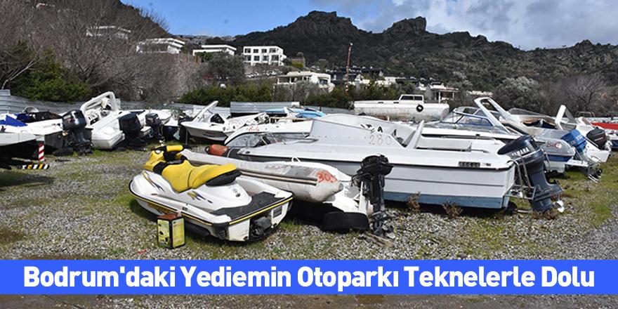 Bodrum'daki Yediemin Otoparkı Teknelerle Dolu
