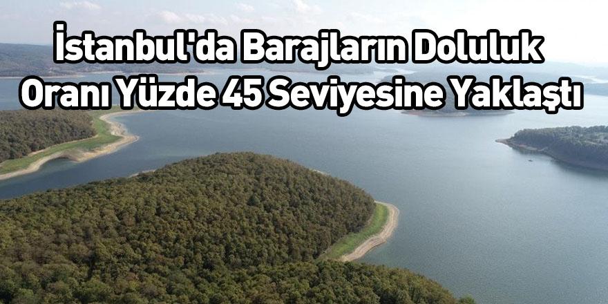 İstanbul'da Barajların Doluluk Oranı Yüzde 45 Seviyesine Yaklaştı