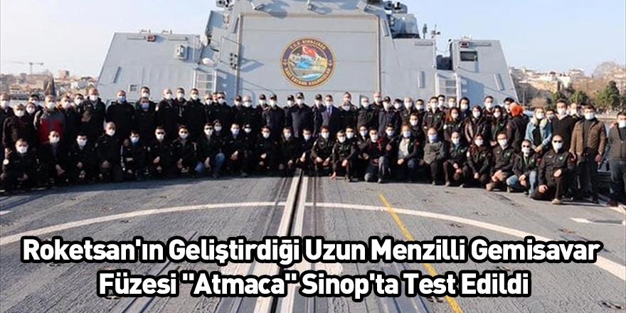 """Roketsan'ın Geliştirdiği Uzun Menzilli Gemisavar Füzesi """"Atmaca"""" Sinop'ta Test Edildi"""