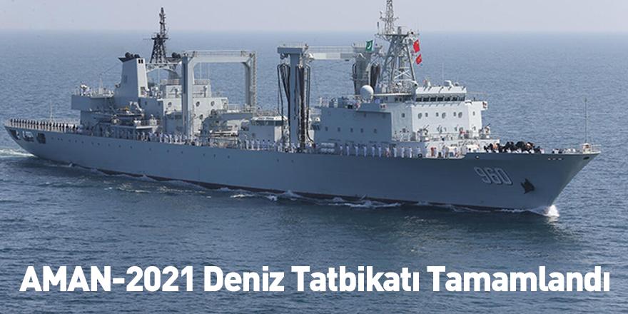 AMAN-2021 Deniz Tatbikatı Tamamlandı