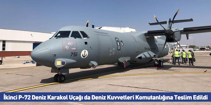 İkinci P-72 Deniz Karakol Uçağı da Deniz Kuvvetleri Komutanlığına Teslim Edildi