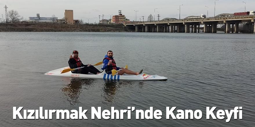 Kızılırmak Nehri'nde Kano Keyfi