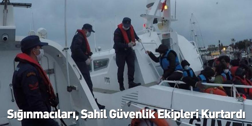 Sığınmacıları, Sahil Güvenlik Ekipleri Kurtardı