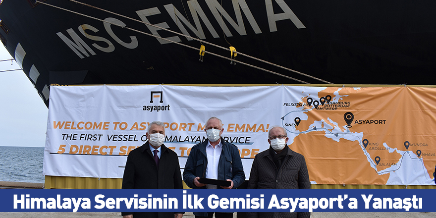 Himalaya Servisinin İlk Gemisi Asyaport'a Yanaştı