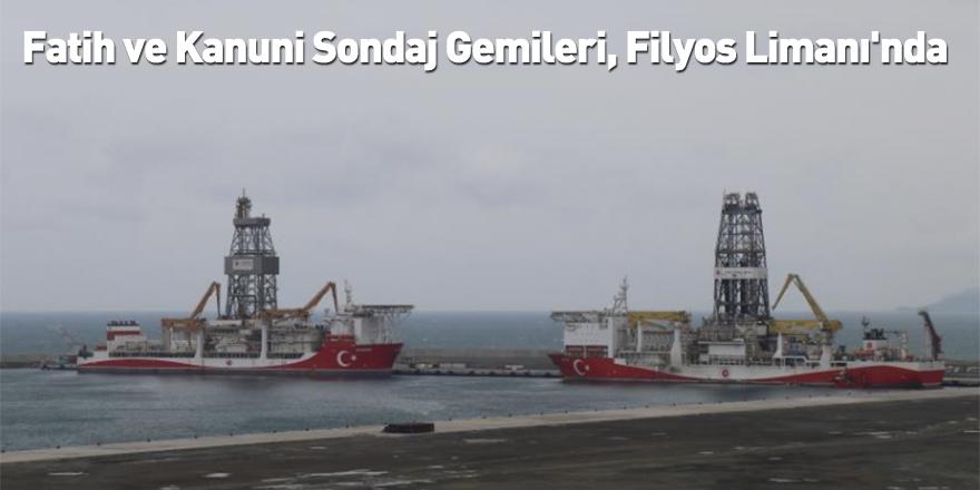 Fatih ve Kanuni Sondaj Gemileri, Filyos Limanı'nda