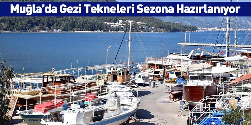 Muğla'da Gezi Tekneleri Sezona Hazırlanıyor