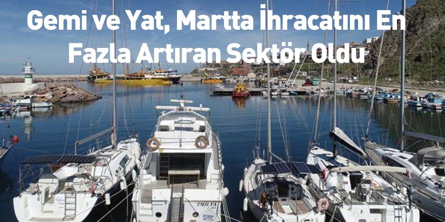 Gemi ve Yat, Martta İhracatını En Fazla Artıran Sektör Oldu