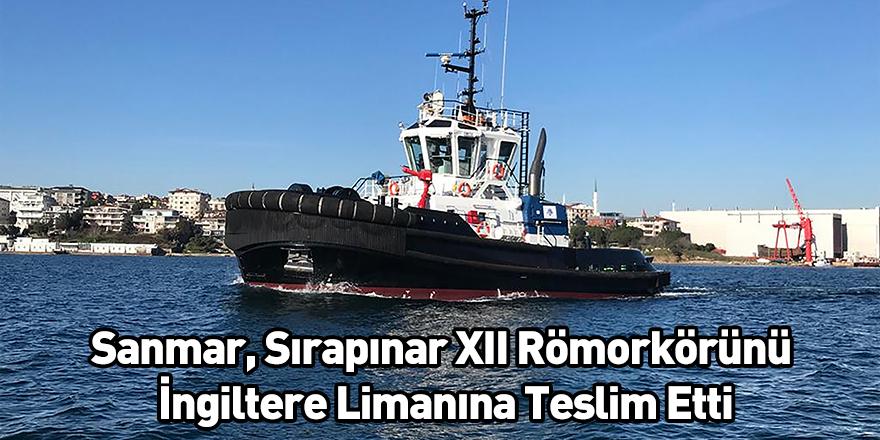 Sanmar, Sırapınar XII Römorkörünü İngiltere Limanına Teslim Etti