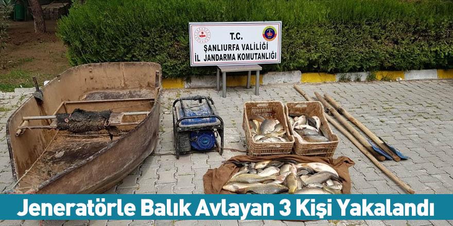Jeneratörle Balık Avlayan 3 Kişi Yakalandı