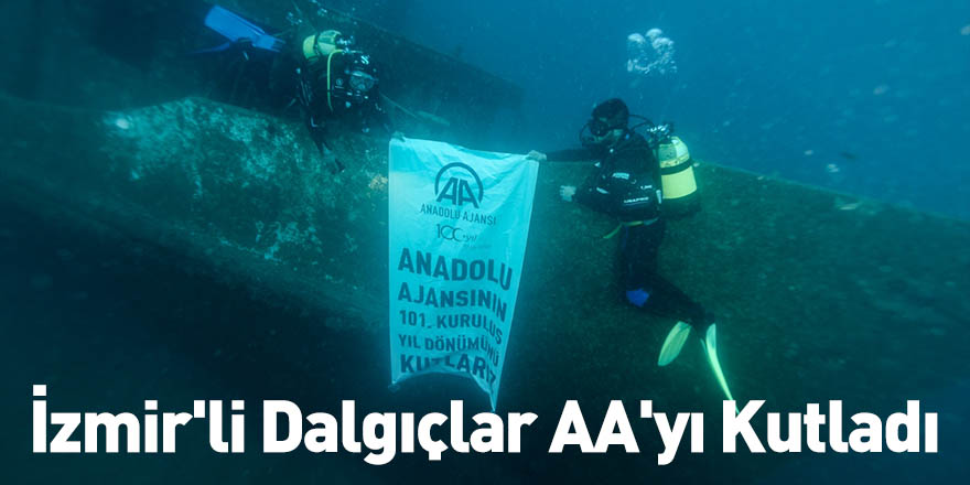 İzmir'li Dalgıçlar AA'yı Kutladı