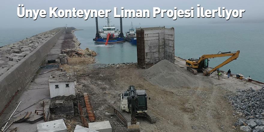 Ünye Konteyner Liman Projesi İlerliyor