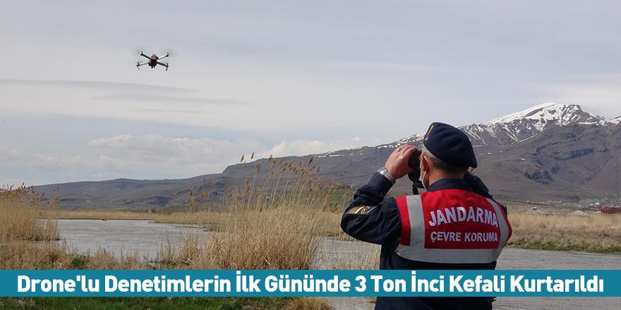 Drone'lu Denetimlerin İlk Gününde 3 Ton İnci Kefali Kurtarıldı