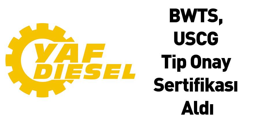 BWTS, USCG Tip Onay Sertifikası Aldı