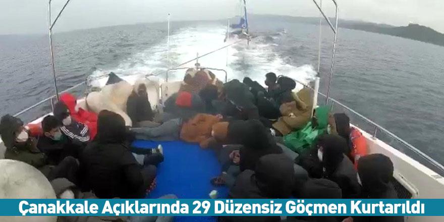 Çanakkale Açıklarında 29 Düzensiz Göçmen Kurtarıldı