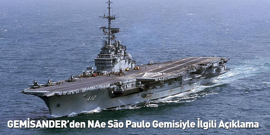 GEMİSANDER'den NAe São Paulo Gemisiyle İlgili Açıklama