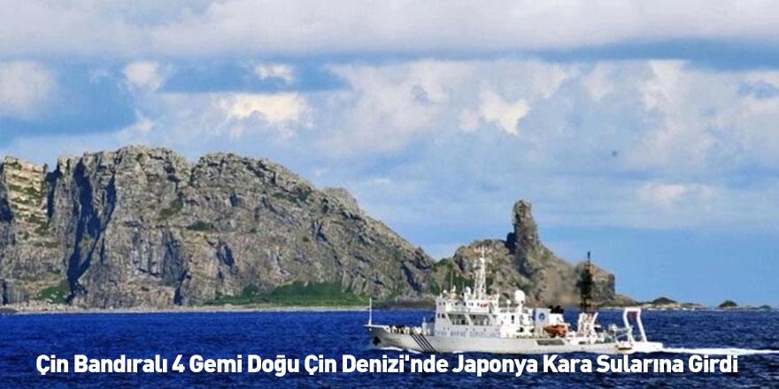 Çin Bandıralı 4 Gemi Doğu Çin Denizi'nde Japonya Kara Sularına Girdi