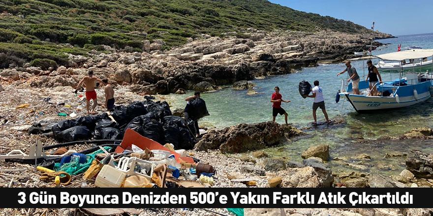 3 Gün Boyunca Denizden 500'e Yakın Farklı Atık Çıkartıldı