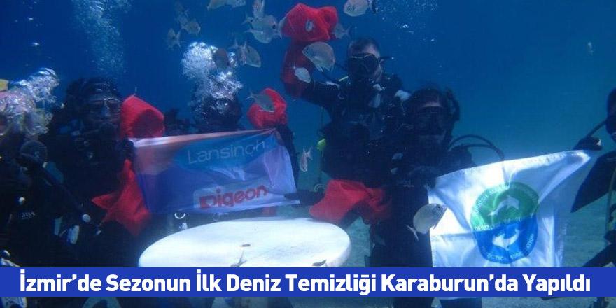İzmir'de Sezonun İlk Deniz Temizliği Karaburun'da Yapıldı