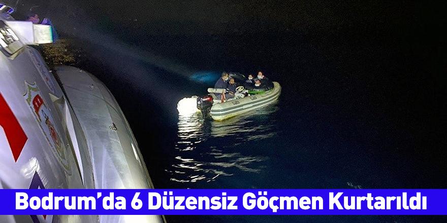 Bodrum'da 6 Düzensiz Göçmen Kurtarıldı