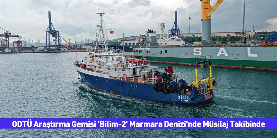 ODTÜ Araştırma Gemisi 'Bilim-2' Marmara Denizi'nde Müsilaj Takibinde