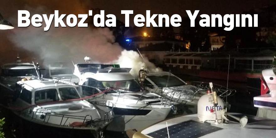 Beykoz'da Tekne Yangını