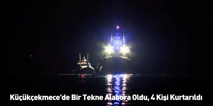 Küçükçekmece'de Bir Tekne Alabora Oldu, 4 Kişi Kurtarıldı