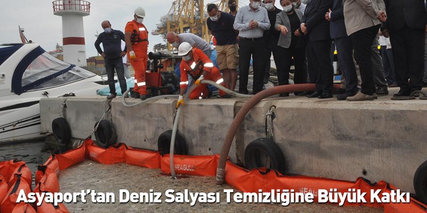 Asyaport'tan Deniz Salyası Temizliğine Büyük Katkı