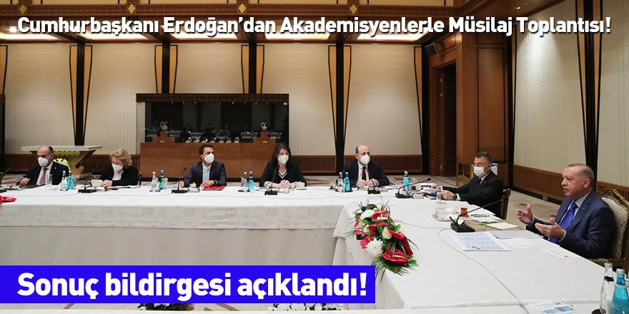 Cumhurbaşkanı Erdoğan'dan Akademisyenlerle Müsilaj Toplantısı!