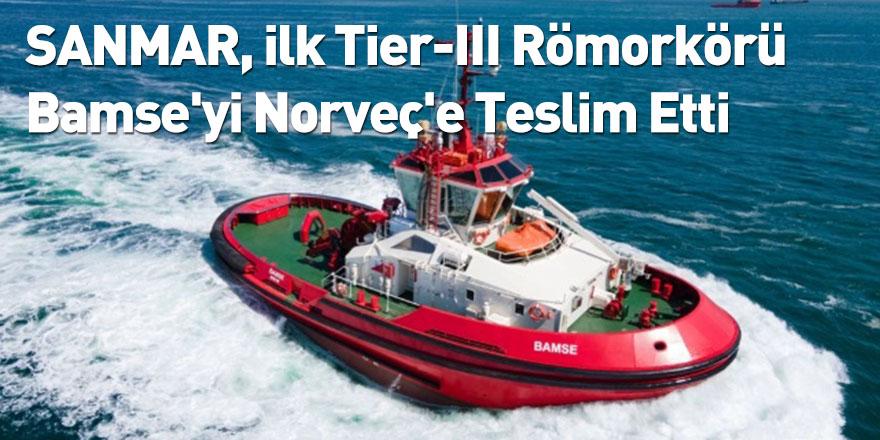 SANMAR, ilk Tier-III Römorkörü Bamse'yi Norveç'e Teslim Etti