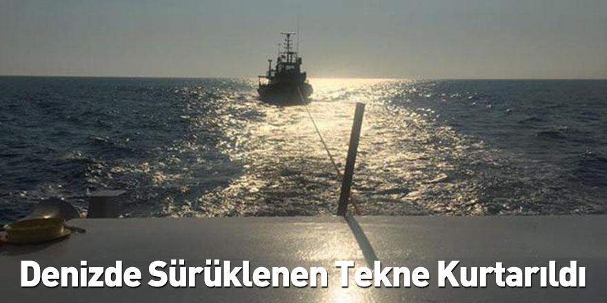 Denizde Sürüklenen Tekne Kurtarıldı