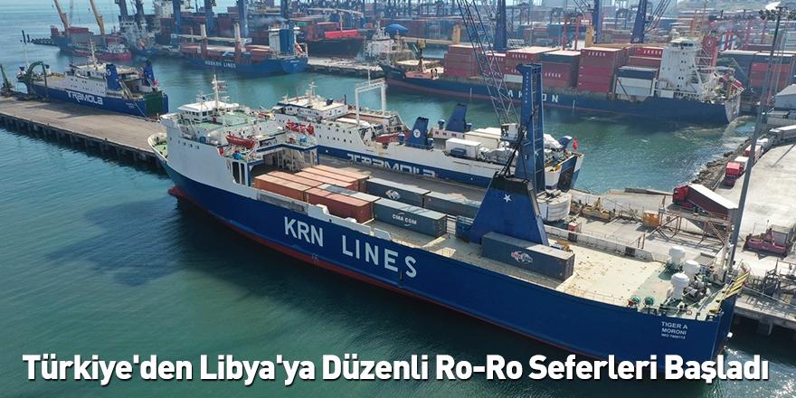 Türkiye'den Libya'ya Düzenli Ro-Ro Seferleri Başladı