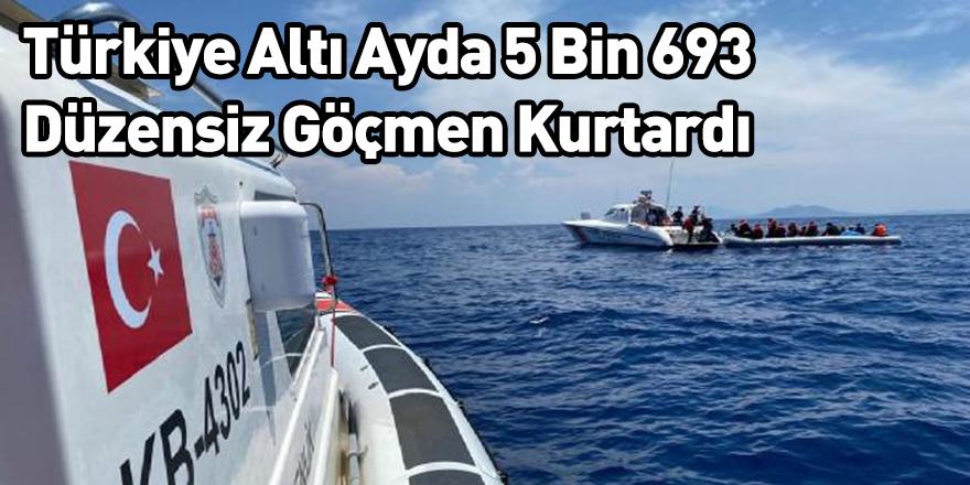 Türkiye Altı Ayda 5 Bin 693 Düzensiz Göçmen Kurtardı