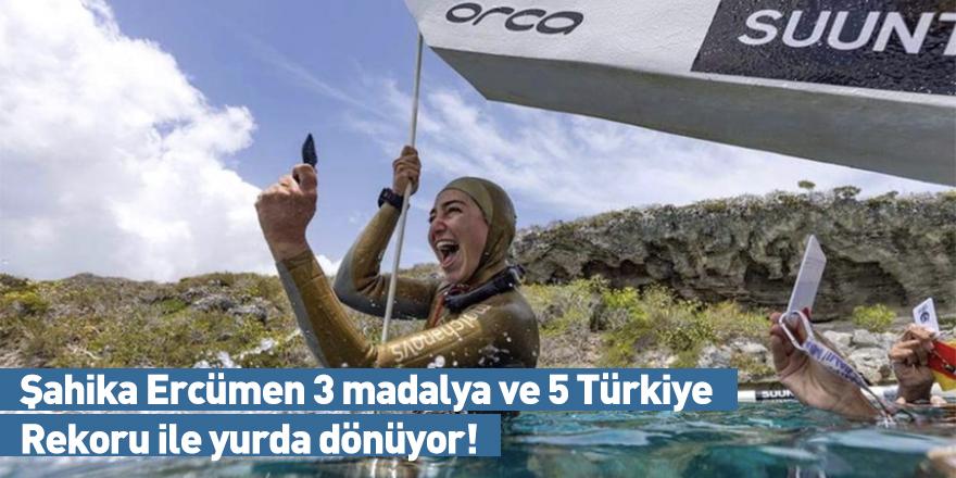 Şahika Ercümen 3 madalya ve 5 Türkiye Rekoru ile yurda dönüyor!