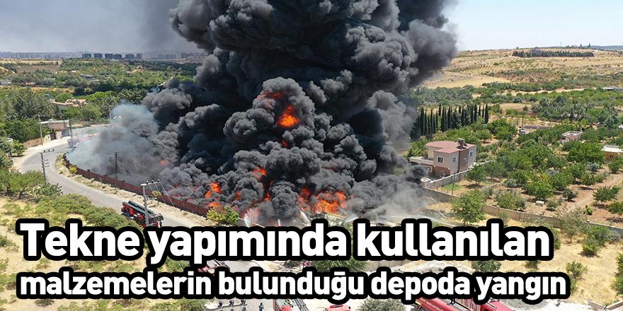 Tekne yapımında kullanılan malzemelerin bulunduğu depoda yangın