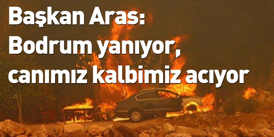 Başkan Aras: Bodrum yanıyor, canımız kalbimiz acıyor