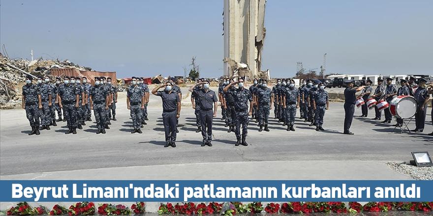 Beyrut Limanı'ndaki patlamanın kurbanları anıldı