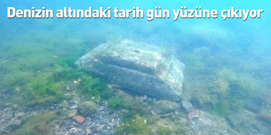 Denizin altındaki tarih gün yüzüne çıkıyor