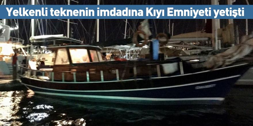Yelkenli teknenin imdadına Kıyı Emniyeti yetişti