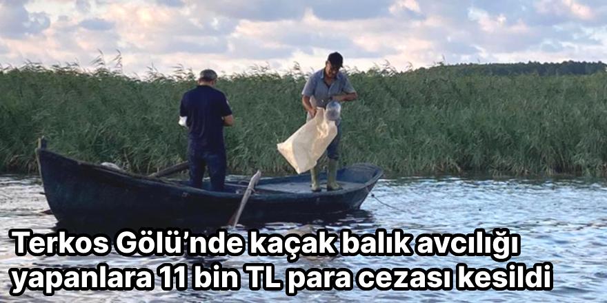 Terkos Gölü'nde kaçak balık avcılığı yapanlara 11 bin TL para cezası kesildi