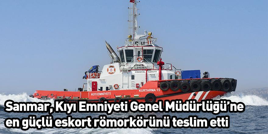 Sanmar, Kıyı Emniyeti Genel Müdürlüğü'ne en güçlü eskort römorkörünü teslim etti