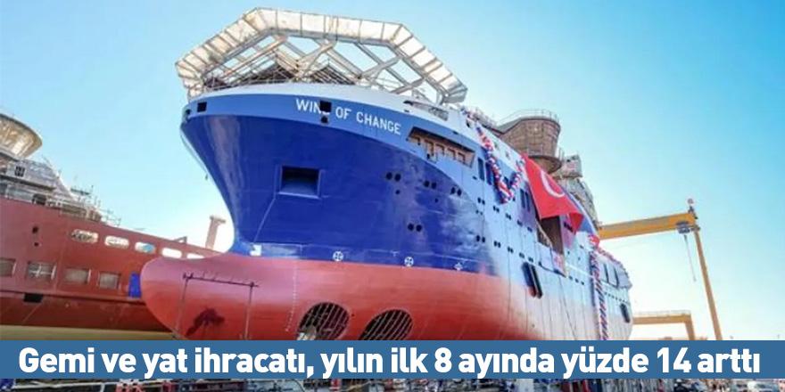 Gemi ve yat ihracatı, yılın ilk 8 ayında yüzde 14 arttı