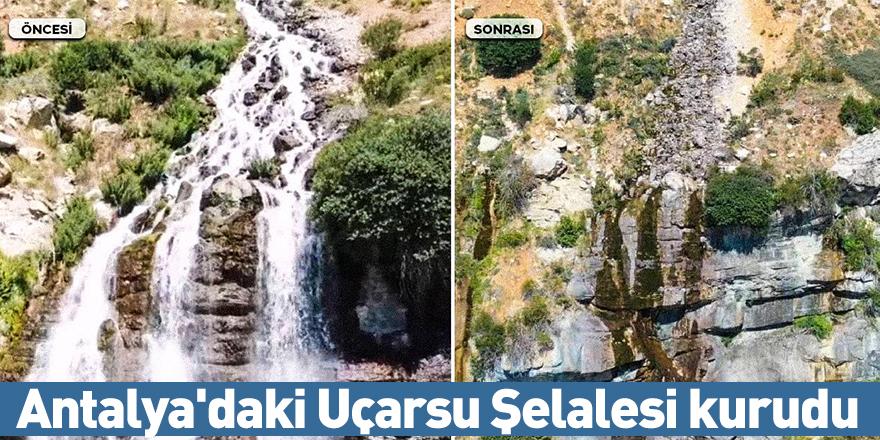 Antalya'daki Uçarsu Şelalesi kurudu