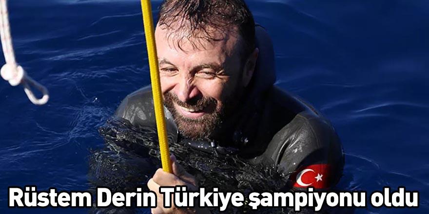 Rüstem Derin Türkiye şampiyonu oldu