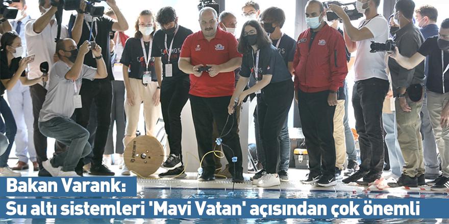 Bakan Varank: Su altı sistemleri 'Mavi Vatan' açısından çok önemli